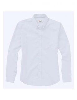 Camisa blanco bordada con logo. Regalos Empresariales, Merchandising.